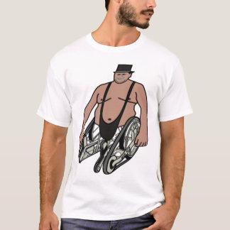 Fat Robot Wheel Chair Man Pouch T-Shirt