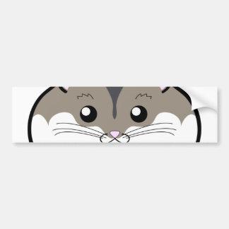 Fat Russian Dwarf Hamster Car Bumper Sticker