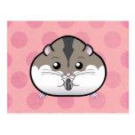 Fat Russian Dwarf Hamster Postcard