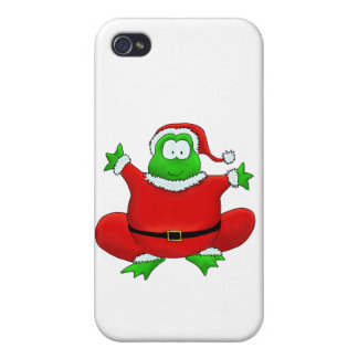 Fat Santa Frog Covers For iPhone 4
