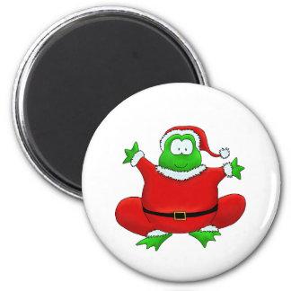 Fat Santa Frog Refrigerator Magnet