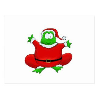 Fat Santa Frog Postcard