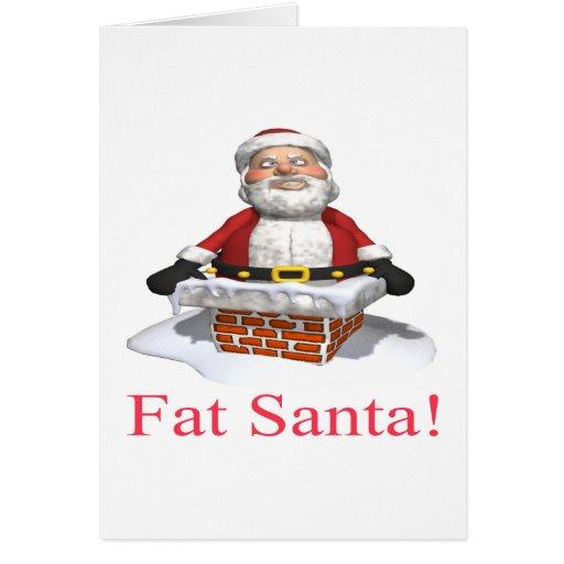 Fat Santa Greeting Card