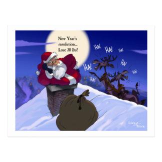 fat santa postcard