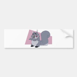 Fat Squirrel Car Bumper Sticker