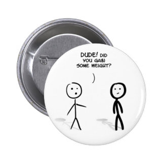 Fat stick guy pinback buttons