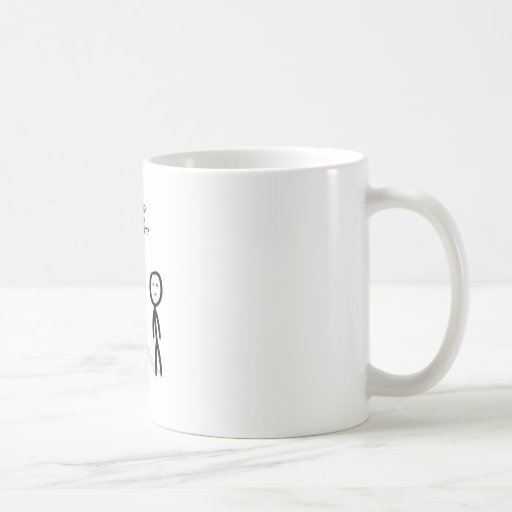 Fat stick guy classic white coffee mug