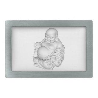 Fat stone buddha Rect Belt Buckle