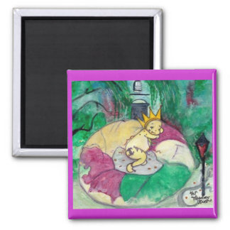 Fat Tuesday 2 Inch Square Magnet