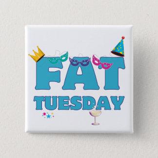 Fat Tuesday Mardi Gras Pinback Button