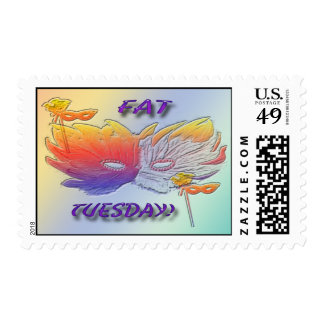 Fat Tuesday Mask Postage