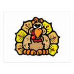 fat turkey postcard