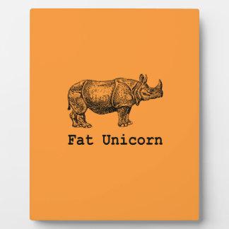 Fat Unicorn Plaque