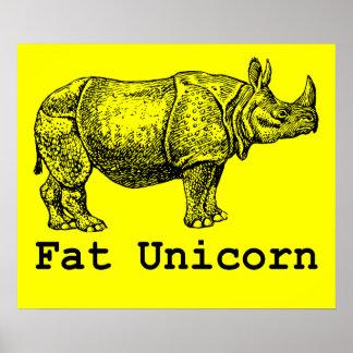 Fat Unicorn Poster