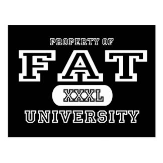 Fat Univeristy Dark Postcard