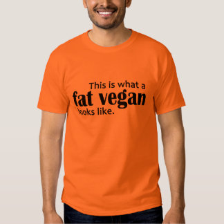 Fat Vegans (Black) T-shirt