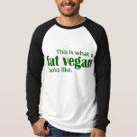 Fat Vegans (Green) Tee Shirt