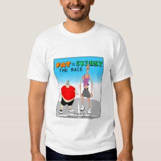 FAT Y FLACO: La RAZA - camiseta del TÍTULO Polera