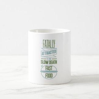 Fatal atraído a la muerte lenta de los alimentos taza básica blanca