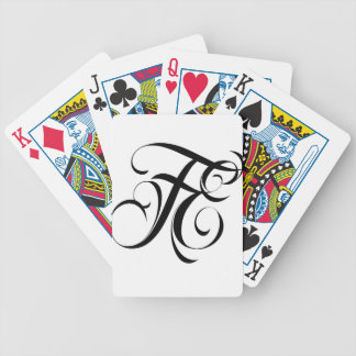 Fatal Endeavors FE BLACK BRANDED LOGO Bicycle Playing Cards