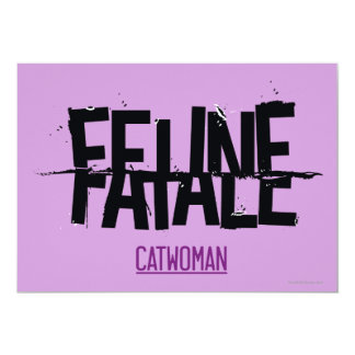 """Fatale felino invitación 5"""" x 7"""""""