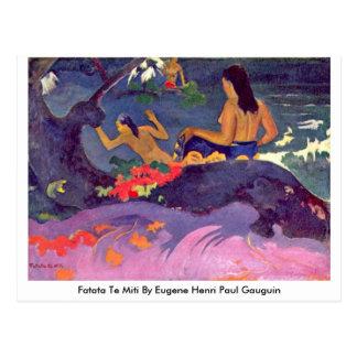 Fatata Te Miti By Eugene Henri Paul Gauguin Postcard