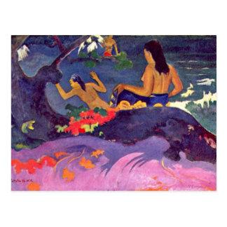 Fatata Te Miti By Paul Gauguin (Best Quality) Postcard