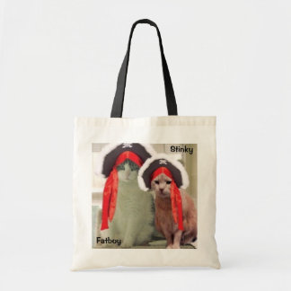 FATBOY AND STINKY PIRATE TOTE BAG