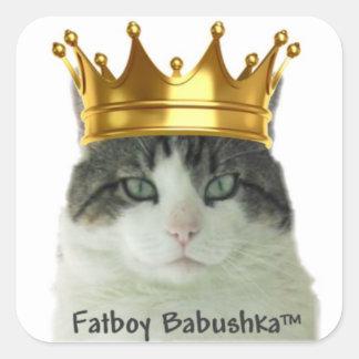 "Fatboy Babushka ""KING"" Square Sticker"