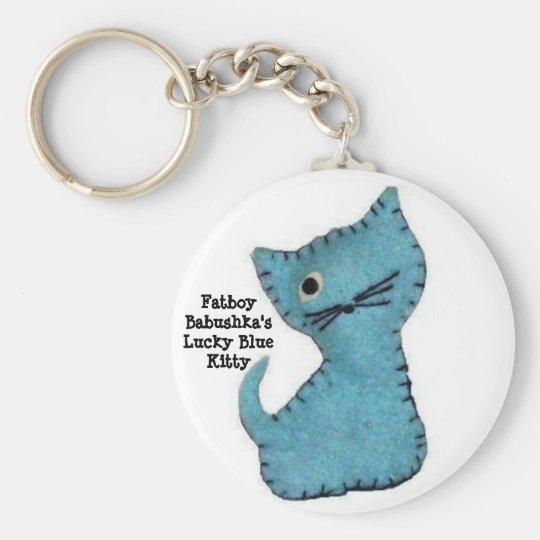 Fatboy Babushka's Lucky Blue Kitty Keychain