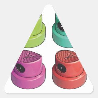 Fatcap white triangle sticker
