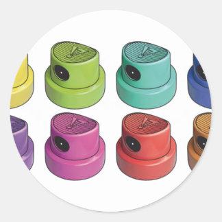 Fatcap white classic round sticker