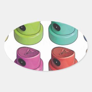 Fatcap white oval sticker