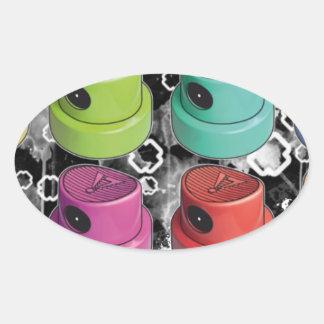 Fatcapschwarz Oval Sticker