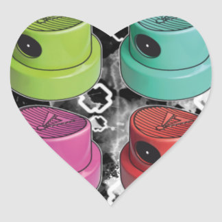 Fatcapschwarz Heart Sticker