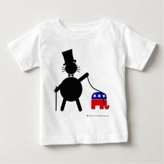 Fatcat and Republican Elephant Baby T-Shirt