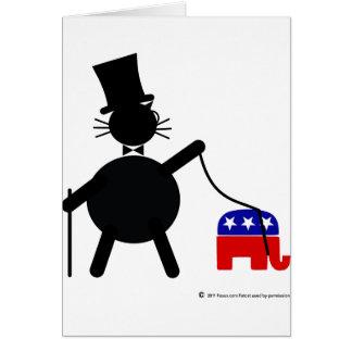 Fatcat and Republican Elephant Card
