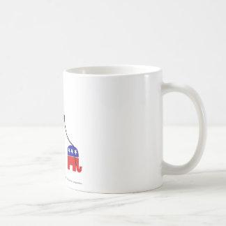 Fatcat and Republican Elephant Coffee Mug