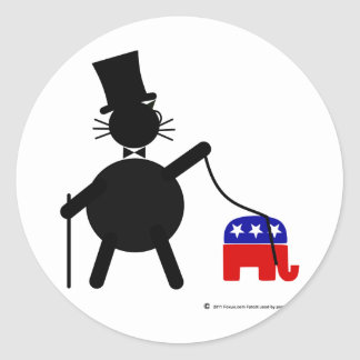 Fatcat and Republican Elephant Stickers