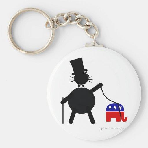 Fatcat y elefante republicano llaveros personalizados