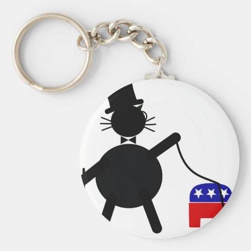 Fatcat y elefante republicano llavero