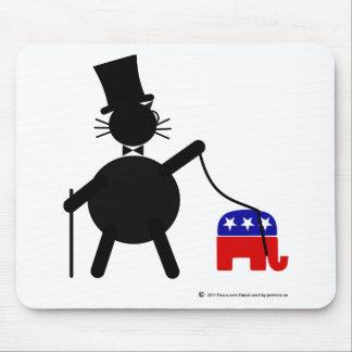 Fatcat y elefante republicano tapete de ratones