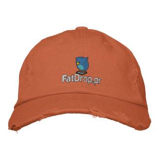 FatDrop.pr Hat Embroidered Distressed Baseball Cap