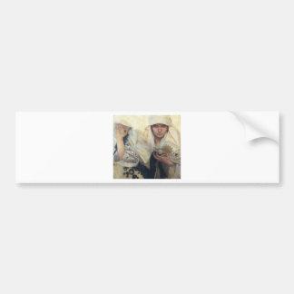 Fate by Alphonse Mucha Bumper Sticker