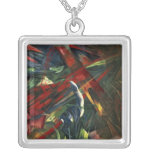 Fate of the Animals, 1913 Square Pendant Necklace
