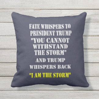 FATE WHISPERS TO PRESIDENT TRUMP OUTDOOR PILLOW
