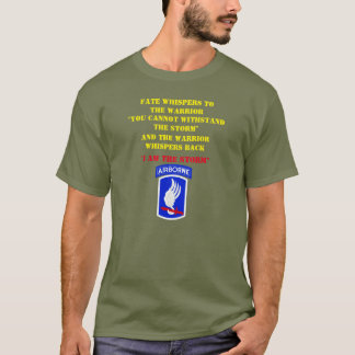 FATE WHISPERS TO THE 173rd WARRIOR, T-Shirt