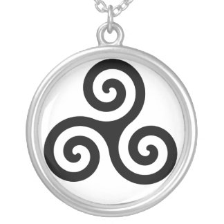 Fate's Triskele Silver Plated Necklace