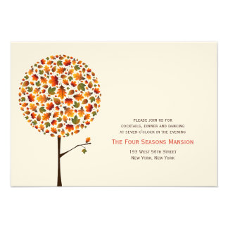 fatfatin Autumn Fall Leaves Pop Tree Reception Car Personalized Announcements