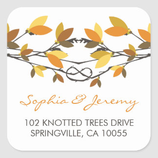 fatfatin Autumn Knotted Love Trees Address Labels